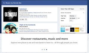 Facebook's socially influenced search results