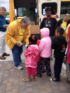 Lunchbox Express hands out lunches at Colfax Community Network's summer food launch event at New Freedom Park.
