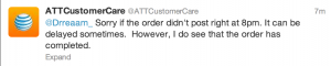 "AT&T says ""sorry"" regularly via its @ATTCustomerCare account"
