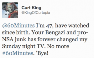Some of the backlash on Twitter in response to 60 Minutes' NSA story