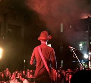 The crazy-talented Gary Clark Jr. looks out at the crowd.