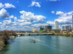 It was a beautiful spring day in Austin - here's a shot from Lady Bird Lake that shows a few of the many buildings going up in ATX.
