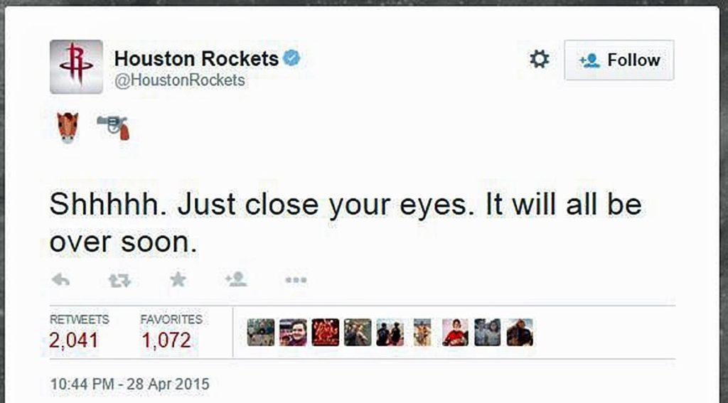 Houston Rockets NBA Tweet