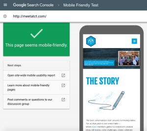CenterTable Google Mobile Friendly Test Results