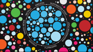 Eli Pariser's illustration of a filter bubble.