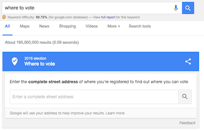 Google Where To Vote