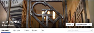 GFM's cover photo for its secret Facebook group.