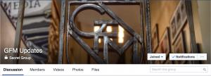 GFM's cover photo for its secret Facebook group.