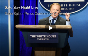 Saturday Night Live Sean Spicer Press Conference Skit