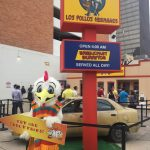 The Los Pollos Hermanos pop-up restaurant from the TV show Better Call Saul.