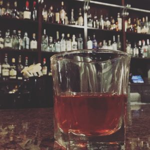 Sazerac Old Fashioned at the incomparable Peche.
