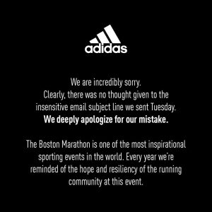 Adidas crisis communications response