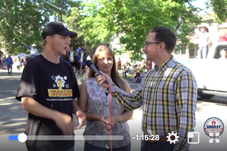 The CenterTable team in a live broadcast from the Greeley Stampede | CenterTable Digital Agency | Denver, CO