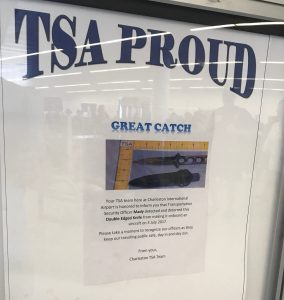 "See how TSA's ""Great Catch"" signs throughout the Charleston airport security lines have improved public impression, traveler interactions & employee morale. See how TSA nets a simple, yet genius PR win for the much maligned industry with ""Great Catch"" signs throughout the Charleston airport 