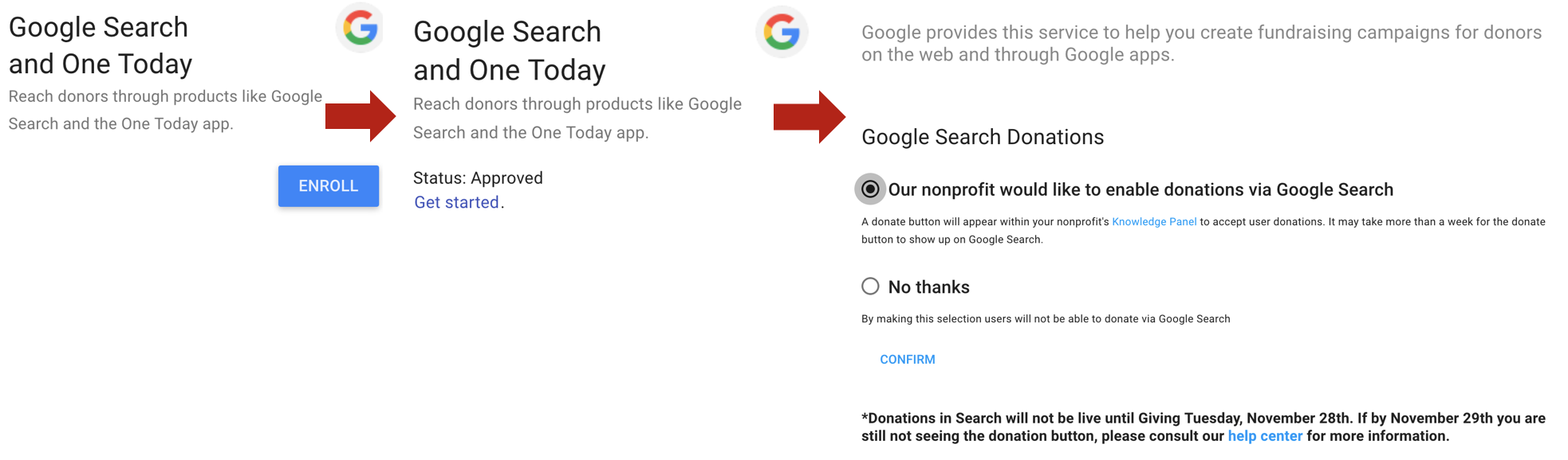 How To Get a Google Search Engine Results Page Donate Button | CenterTable Digital Agency