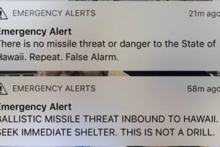 Hawaii False Ballistic Missile Text