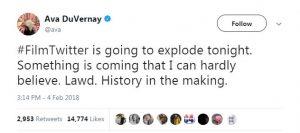 Ava DuVernay tweet about Netflix Cloverfield Paradox