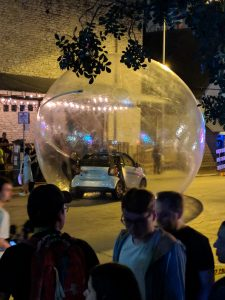 SXSW spectacle - car in a bubble
