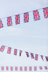 Flags of the United Kingdom Hanging at Royal Wedding