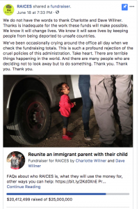 Raices-facebook-fundraiser-nonprofit-social-strategy