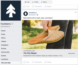 Facebook Advertising Example