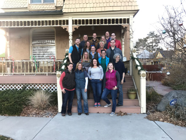 GroundFloor Media and CenterTable team members volunteering at the Denver Children's Advocacy Center