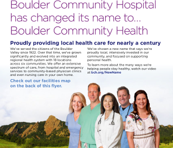 Integrated Communications Strategy Announced Boulder Community Health Rebrand
