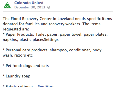 Public Awareness of Colorado United Flood Recovery Office Brand Launch & Integrated Communications Campaign