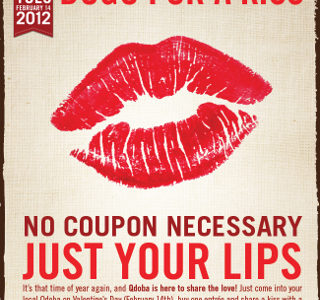 Qdoba's BOGO for a Kiss Valentine's Day Promotion Media & Influencer Campaign