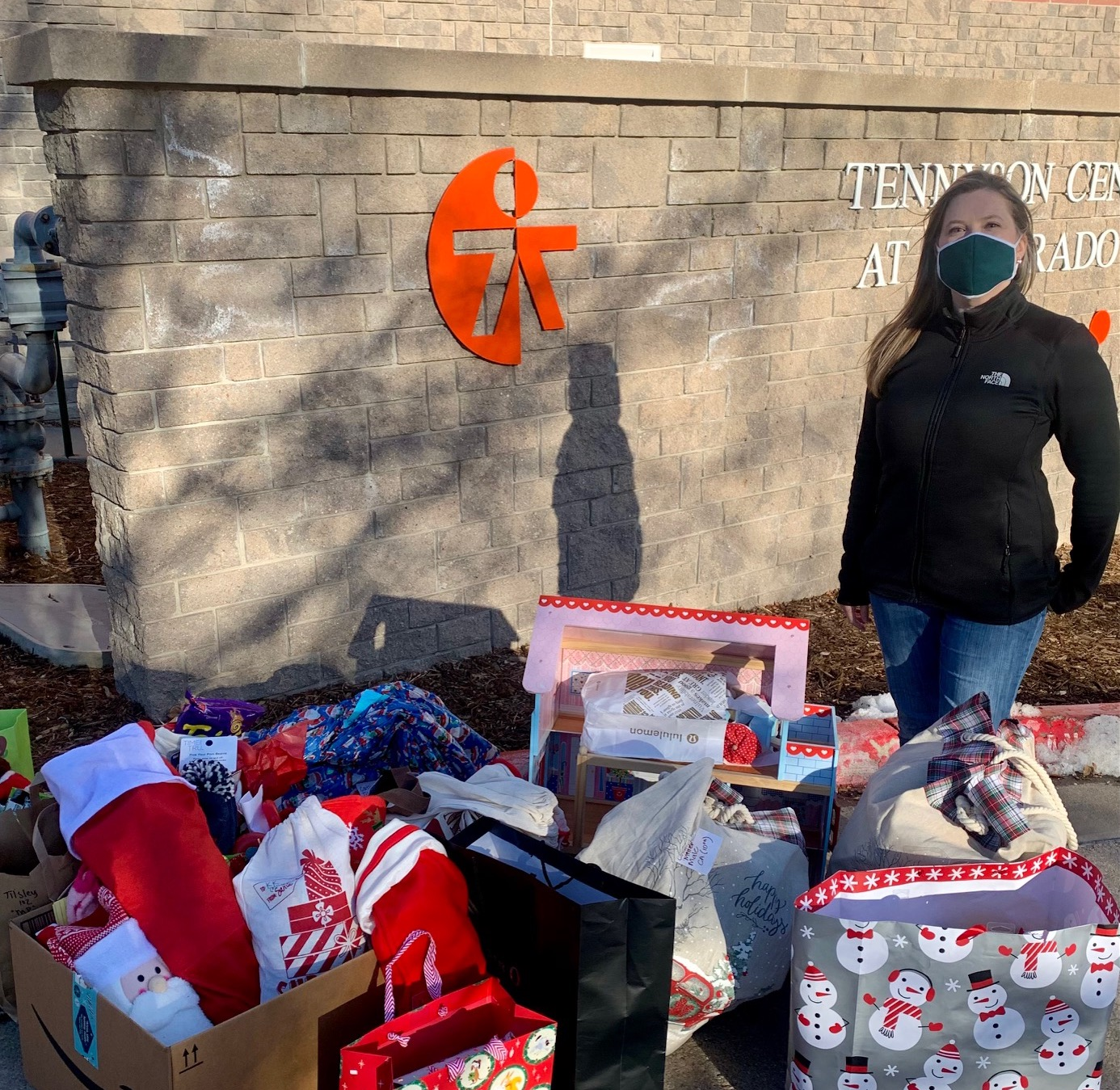 holiday stockings donated to Tennyson Center for Children